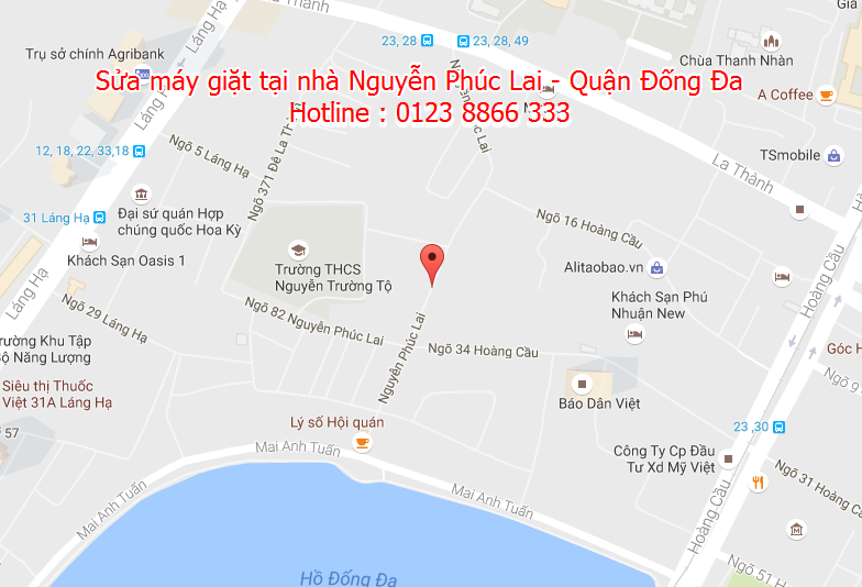 Sửa máy giặt tại nhà Nguyễn Phúc Lai - Quận Đống Đa