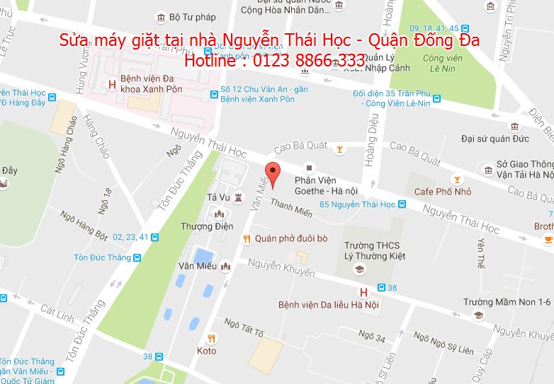 Sửa máy giặt tại nhà Nguyễn Thái Học - Quận Đống Đa