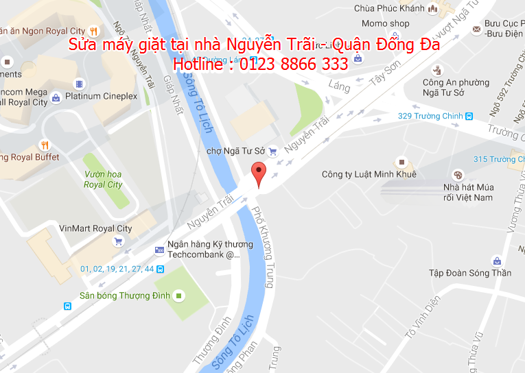 Sửa máy giặt tại nhà Nguyễn Trãi - Quận Đống Đa