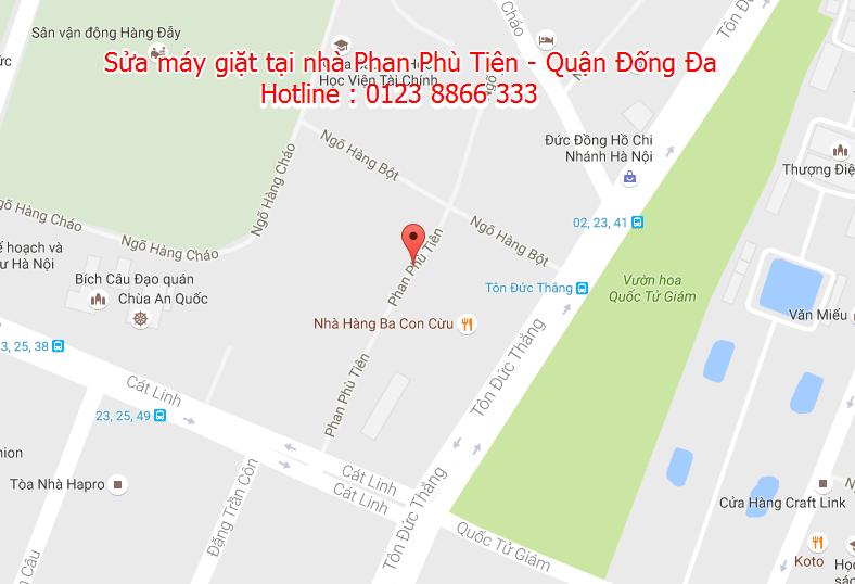 Sửa máy giặt tại nhà Phan Phù Tiên - Quận Đống Đa