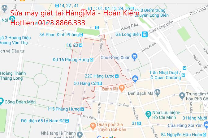 Sửa máy giặt tại nhà phường Hàng Mã - Hoàn Kiếm