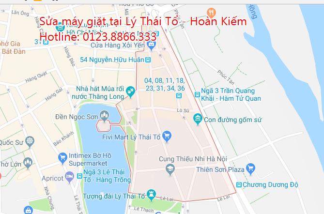 Sửa máy giặt tại nhà phường Lý Thái Tổ - Hoàn Kiếm
