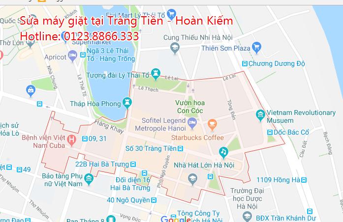 Sửa máy giặt tại nhà phường Tràng Tiền - Hoàn Kiếm